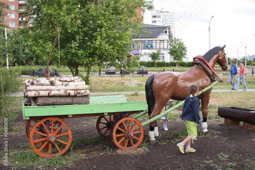 Composition - the Horse with a cart