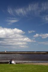 Amble Pier and beach