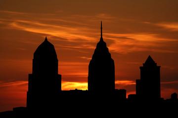 Philadelphia at sunset