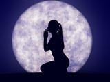 Full moon prayer - 3D render poster