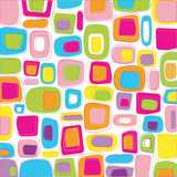 Fototapety Multicolored retro styled squares
