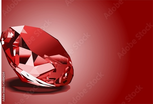 canvas print picture Red ruby background