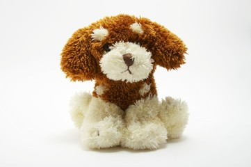 A toy - a soft, children's dog 3