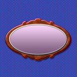 oval mirror illustration poster