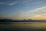 Sunset. The like Chiemsee in Bavaria, Germany. poster