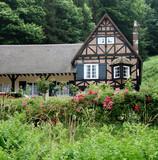 Timber Framed Village Cottage in Normandy, France poster