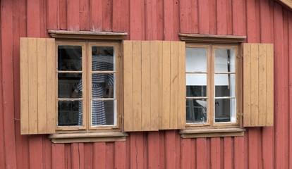Window whit shutter.