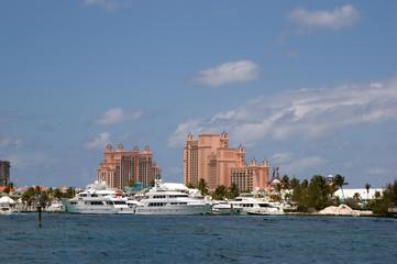 yachts near Paradise Island, Bahamas