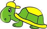 Cartoon turtle poster