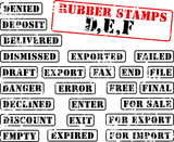 Collection of rubber stamps beginning with letter DEF poster