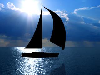 ocean and yacht