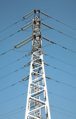 Electro wire tower on a background of the sky