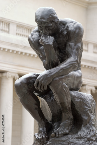 Papiers peints Statue Rodin's Thinker full body