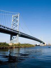 The Benjamin Franklin Bridge at Philadelphia.