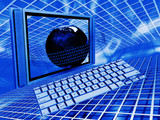 Conceptual image depicting global technology poster