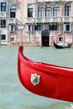 rotes Boot in Venedig poster