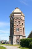Old water tower in Scheveningen, Holland poster