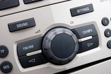 Modern Car Audio Control System, Close-Up Photo poster