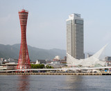 View of famous Kobe Port Tower, Japan