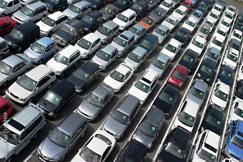 At car auction lot - 3715459