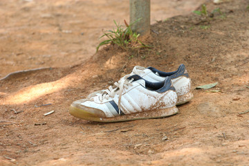 Sneakers in the Dirt