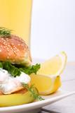 low-calorie filling with shrimps delicious sandwich poster