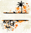 Abstract summer grunge background with sea inhabitant
