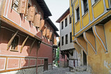 A narrow street in the old town of Plovdiv, Bulgaria