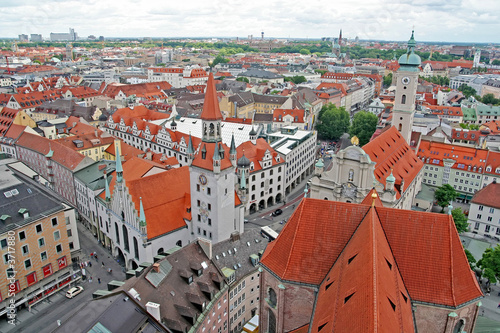 A view of a part of the old town of Munich, Germany