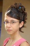 coiffure sur adolescente poster