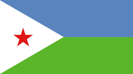 Flag - Djibouti