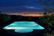 swimming-pool bei sonnenuntergang