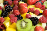 Delicious fruit salad served in a bowl - 3721630