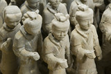 Details of  2,000 year old terracotta warriors in China poster