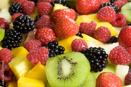 Delicious fruit salad served in a bowl