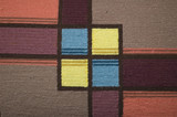 colored handmade woven texture tile squares poster