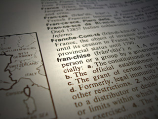 Dictionary Franchise business term / word