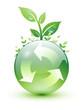 Logo recyclage à feuilles