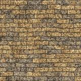 Damaged brick wall poster