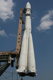 Space rocket Vostok at the launch pad