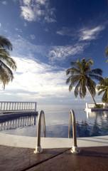 infinity pool to caribbean nicaragua resort