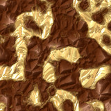 Rock formation with gold vein poster