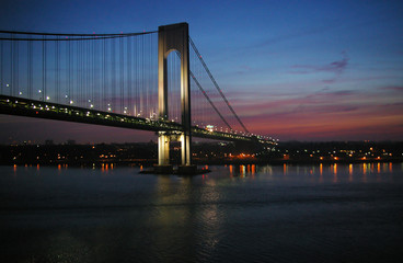 Verrazano bridge at dawn