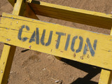 Old Caution Sign poster