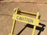 Construction Caution Sign poster