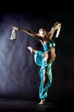 Dancing girl in Arabian costume poster