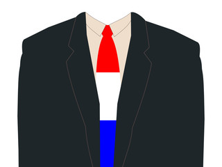 business man with Dutch flag tie