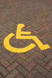 Disabled Symbol. poster