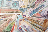International Finance: currencies from around the world poster