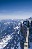 View of Mont Blanc mountain range from Aiguille Du Midi poster